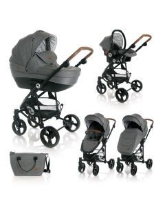 Carucior Set 3 in 1  Crysta, Grey