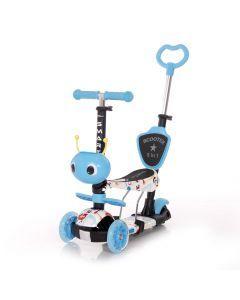 Trotineta pentru copii Smart Plus, Blue Tracery