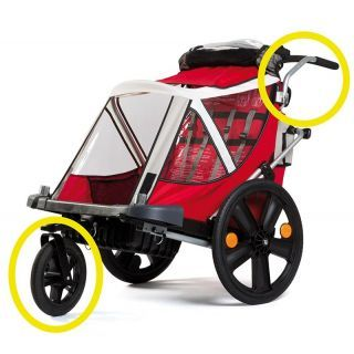 Bellelli Urban Kit pentru remorca de bicicleta B-Travel (set roata frontala si maner)