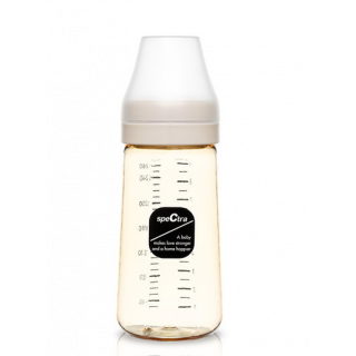 Biberon anticolici premium cu tetina S, galben (260 ml)