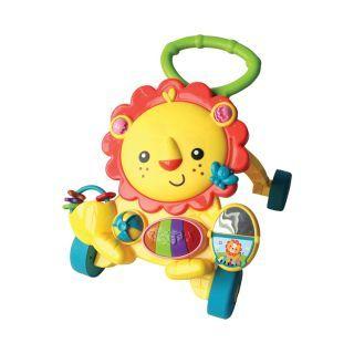 Antepremergator multifunctional, cu centru de activitati, Lion, multicolor