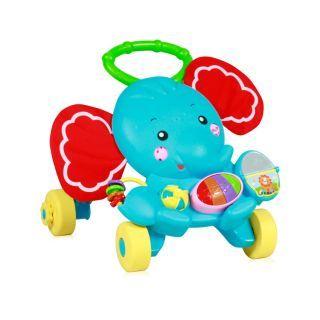 Antepremergator multifunctional, cu centru de activitati, Elephant, multicolor