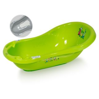 Cada de baie 84 cm cu dop cu covor antiderapant , Green Little Bear