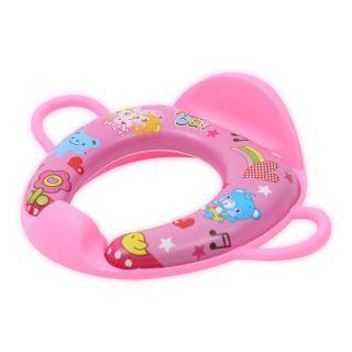 Reductor  moale pentru  toaleta, cu manere si spatar, Pink Heart
