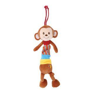 Jucarie muzicala din plus, 36 cm, Beige Monkey