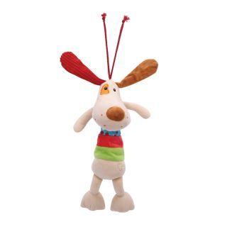 Jucarie muzicala din plus, 36 cm, Beige Dog