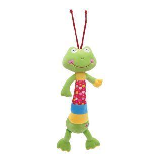 Jucarie muzicala din plus, 36 cm, Green Frog