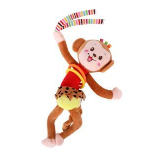 Jucarie zornaitoare din plus, 30 cm, vibratii, Monkey