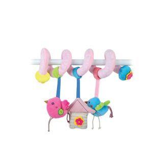 Jucarie spirala pentru patut sau carucior, Pink Sweet Home
