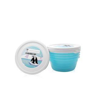 Set 6 recipiente cu capac pentru pastrarea hranei, 0.2 litri, Blue