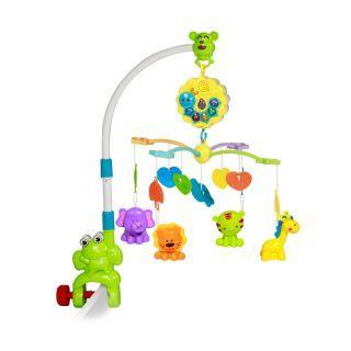 """Carusel electric muzical Bell """"Broscuta""""/pentru patut/, multicolor"""