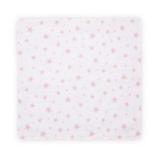 Scutec pled din muselina 80x80 cm, Pink Stars