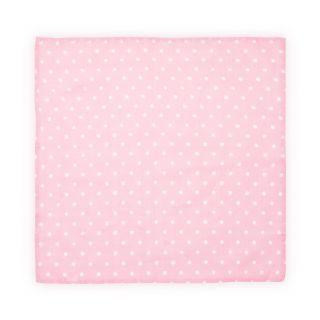 Scutec pled din muselina 80x80 cm, Pink Dots