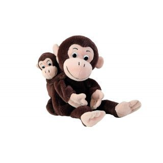Set Papusi Maimuta Si Puiul Ei