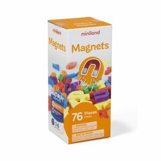 Set 66 litere mici magnetice - Miniland