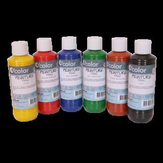 Set 6 culori pentru pictura pe materiale textile