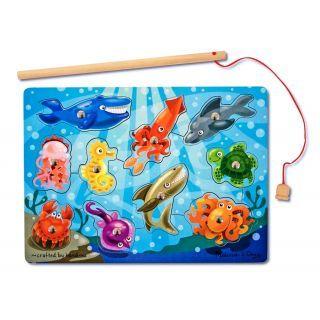 Joc de pescuit magnetic Animale marine Melissa and Doug