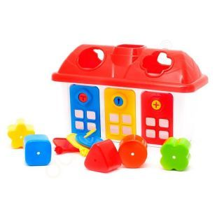 Joc sortare - Casuta colorata cu chei