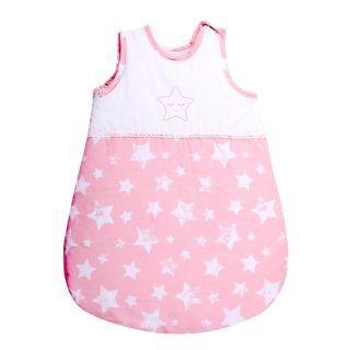 Sac de dormit de vara (0-6 luni), Pink Stars