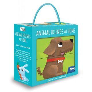 Puzzle cubic - Animalute de companie