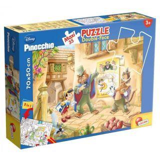 Puzzle de colorat maxi - Pinocchio (35 piese)