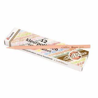 Set 12 creioane colorate Goldline 3.7 mm Roz deschis - Heutink