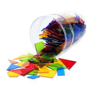 Poligoane colorate - set 450 buc