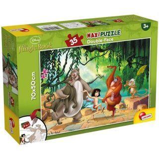 Puzzle de colorat maxi  - Cartea Junglei (35 piese)