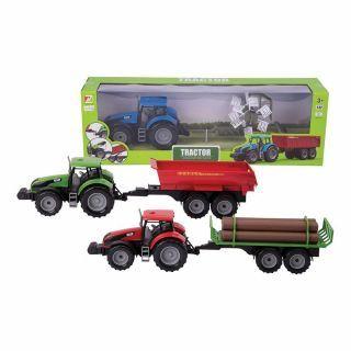 Macheta tractor cu remorca - scara 1:32