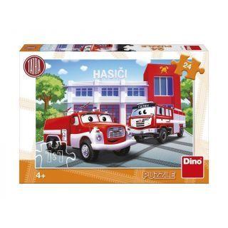 Puzzle - Masina de pompieri (24 piese)