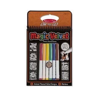 Catifeaua magica Carnet de colorat Animale Melissa and Doug