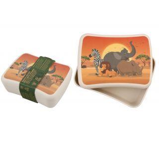Cutie pentru pranz din bambus - Safari