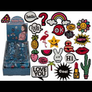 Accesorii decorative haiose pentru haine, ca. 6 cm, 8 modele, 02/5026, set 3 buc