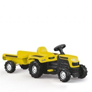 Tractor cu remorca - Galben
