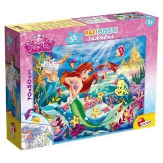 Puzzle de colorat maxi - Mica Sirena (35 piese)