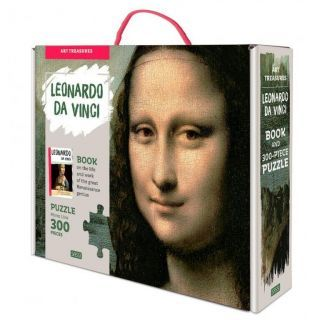 Puzzle Mona Lisa (300 piese+carte)