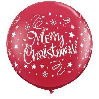 Baloane Jumbo inscriptionate Merry Christmas, Q 74666, Set 2 buc
