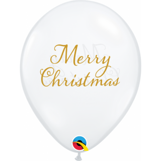 Baloane Latex 11''/28 cm Merry Christmas