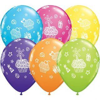 "Baloane latex 11"" inscriptionate Cupcakes & Presents Asortate"