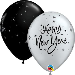 "Baloane latex 11""/28 cm Happy New Year"
