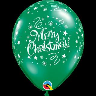 "Baloane latex 11""/28 cm Merry Christmas"