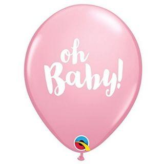 "Baloane latex 11""/28 cm Pink - Oh Baby, Qualatex 58117"