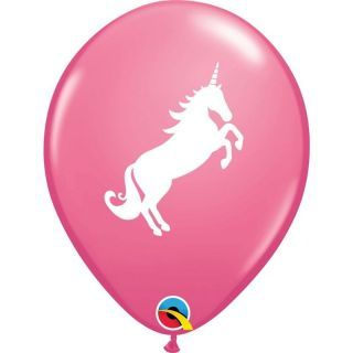 Baloane latex 28 cm Rose Unicorn, Qualatex