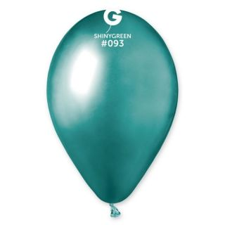 Baloane latex 33 cm Green - Shiny (Chrome), Gemar, set 10 buc