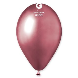 Baloane latex 33 cm Pink - Shiny (Chrome), Gemar  set 10 buc