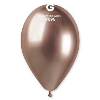 Baloane latex 33 cm Rose Gold- Shiny (Chrome), Gemar , set 10 buc