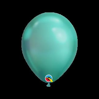 "Baloane latex 7""/18 cm Green - Chrome, Qualatex 85142"