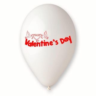 "Baloane latex albe inscriptionate ""Valentine's Day"", Radar GI.LOVE.WH.T1"