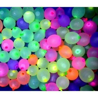 Baloane latex bombite apa, 8 cm, Asortate Fluo, Gemar PTF20, set 100 buc