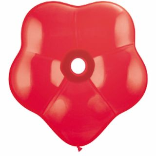 "Balon latex floare, GEO Blossom 16"" Red, Qualatex 18756"